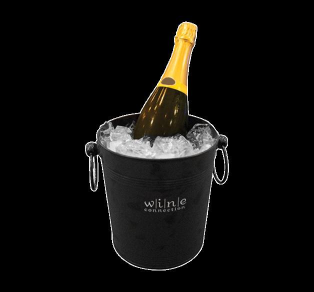 Black Galvanized Wine Ice Bucket With LOGO
