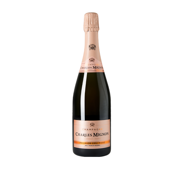 Charles Mignon - Champagne Brut Rose Premier Cru Premium Reserve - France available at Wine Connection