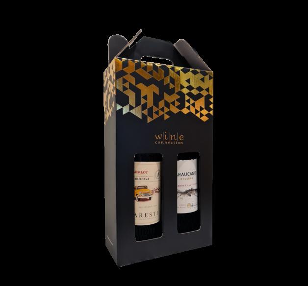 2 Bottle Wine Festive Gift box