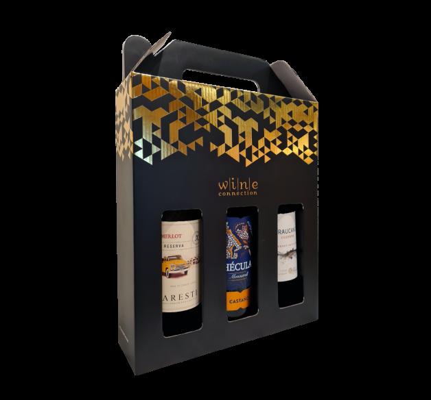 3 Bottle Wine Festive Gift box