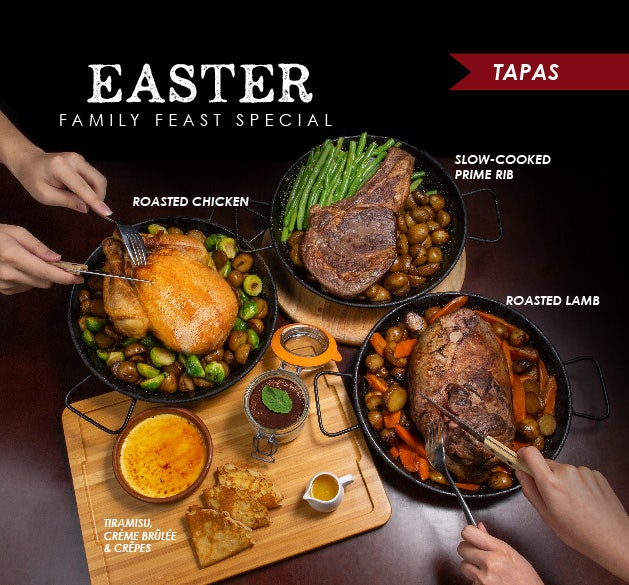 Easter Family Feast at Wine Connection Tapas Bar & Bistro