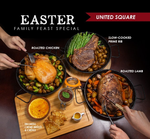 Easter Family Feast at Wine Connection United Square Bistro