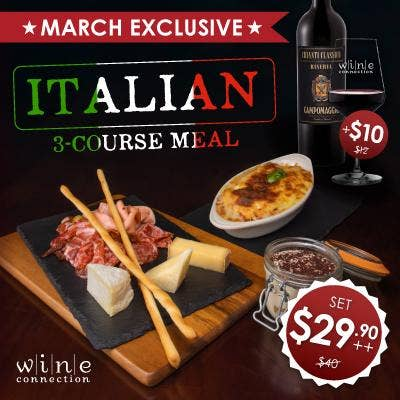 Special Italian 3-Course Meal
