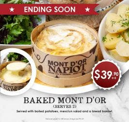 Last Chance to try the Seasonal Mont dÓr Cheese